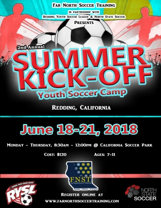 Redding Summer Kick Off Camp 2018 WIP